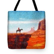 Cowboy At Monument Valley In Utah - Da Tote Bag