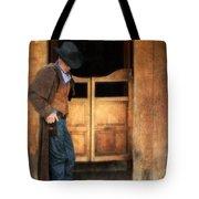 Cowboy By Saloon Doors Tote Bag