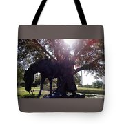Cowboy Frozen In Time Tote Bag