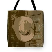 Cowboy Hangs It Up Square Format 1 Tote Bag
