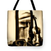 Cowboy Hat And Fiddle Tote Bag