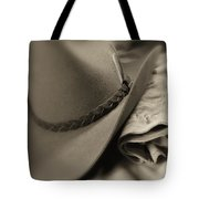 Cowboy Hat And Gloves Tote Bag