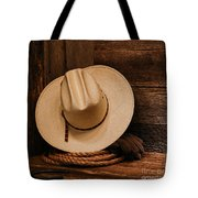 Cowboy Hat And Gear Tote Bag