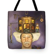 Cowboy Karl Tote Bag by Leah Saulnier The Painting Maniac