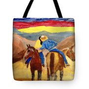 Cowboy Kisses Cowgirl Tote Bag