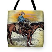 Cowboy N Sunset Tote Bag