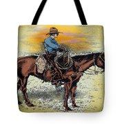 Cowboy N Sunset Tote Bag