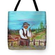 Cowboy On The Farm Tote Bag