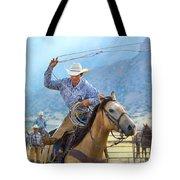 Cowboy Roping A Steer Tote Bag
