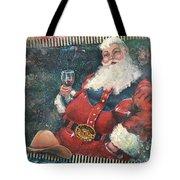 Cowboy Santa Tote Bag