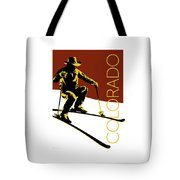 Colorado Cowboy Skier Tote Bag by Sam Brennan