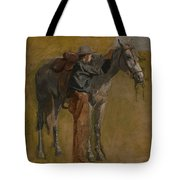 Cowboy - Study For Cowboys In The Badlands Tote Bag