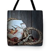 Cowboys And Indians Tote Bag by Tom Mc Nemar