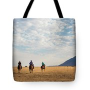 Cowboys On The Open Range Tote Bag