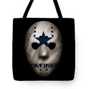 Cowboys War Mask 3 Tote Bag