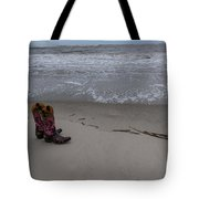 Cowgirl Day At Beach Tote Bag