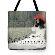 Cowgirl Red Quote Tote Bag