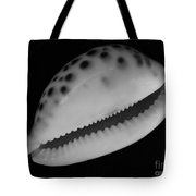 Cowry Shell In Black And White Tote Bag