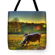 Cows And Stone Fences Tote Bag