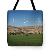 Cows And Windmills Tote Bag