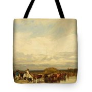 Cows Crossing A Ford 1836 Tote Bag
