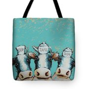 Cows For Tea Tote Bag