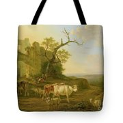 cows in a Meadow Tote Bag