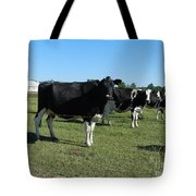 Cows In A Row Tote Bag