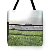 Cows In Field Tote Bag