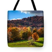 Cows In Pomfret Vermont Fall Foliage Tote Bag
