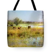 Cows In The Desert Tote Bag