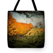 Cows In The Meadow Tote Bag
