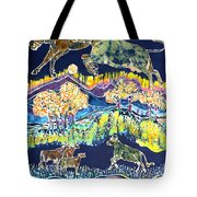 Cows Jumping Over The Moon Tote Bag by Carol  Law Conklin