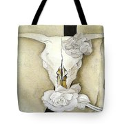 Cow's Skull With Calico Roses By Georgia O'keeffe Tote Bag
