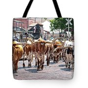 Cowtown Stockyards Tote Bag
