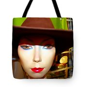 Coy Cowgirl Tote Bag