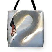 Coy Swan Tote Bag