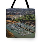 Coyote Point Marina San Francisco Bay Sfo California Tote Bag