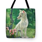 Coyote Pup Tote Bag