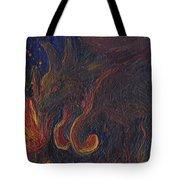 Coyote Steals Fire Detail Tote Bag
