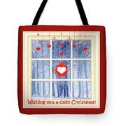 Cozy Christmas Card Tote Bag