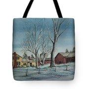 Cozy Winter Night Tote Bag