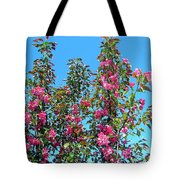 Crab Apple Blossoms Tote Bag