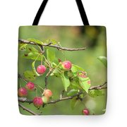 Crab Apple Fruit Tote Bag
