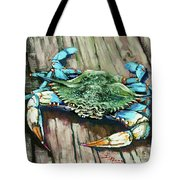 Crabby Blue Tote Bag