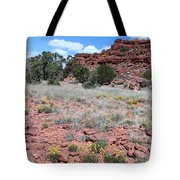 Cracked Earth And Yellow Flowers Tote Bag