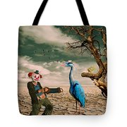 Cracked IIi - The Clown Tote Bag by Chris Armytage
