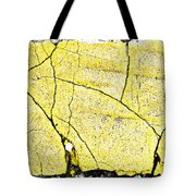 Cracked Yellow Paint Tote Bag