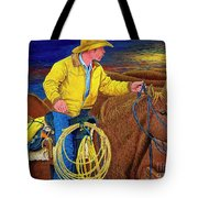 Cracker Cowboy Sunrise Tote Bag