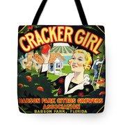 Cracker Girl Citrus Crate Label C. 1920 Tote Bag